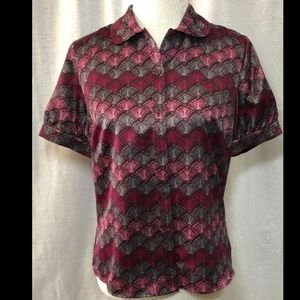 "East 5th Women's Pink/Grey Print Top - 38"" Chest"